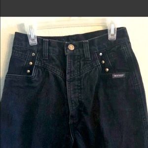 Rockies Vintage High Waisted Black Mom Jeans